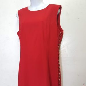 ⭐️Like New⭐️Calvin Klein Red Sheath Dress